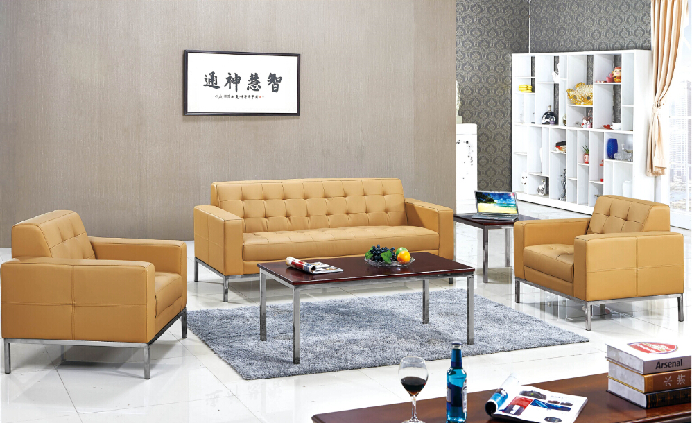 2015 Wholesales Price leather office reception sofa for sales