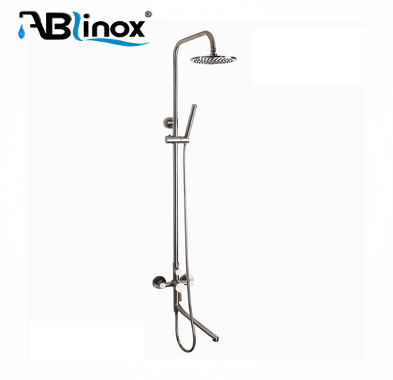 single handle ceramic cartridge bathroom rain shower faucet