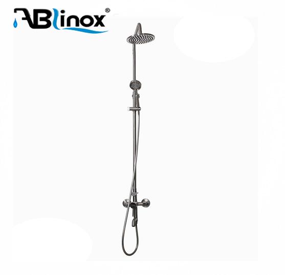 ABLinox healthy sanitaryware stainless steel western bathroom set with rain shower head