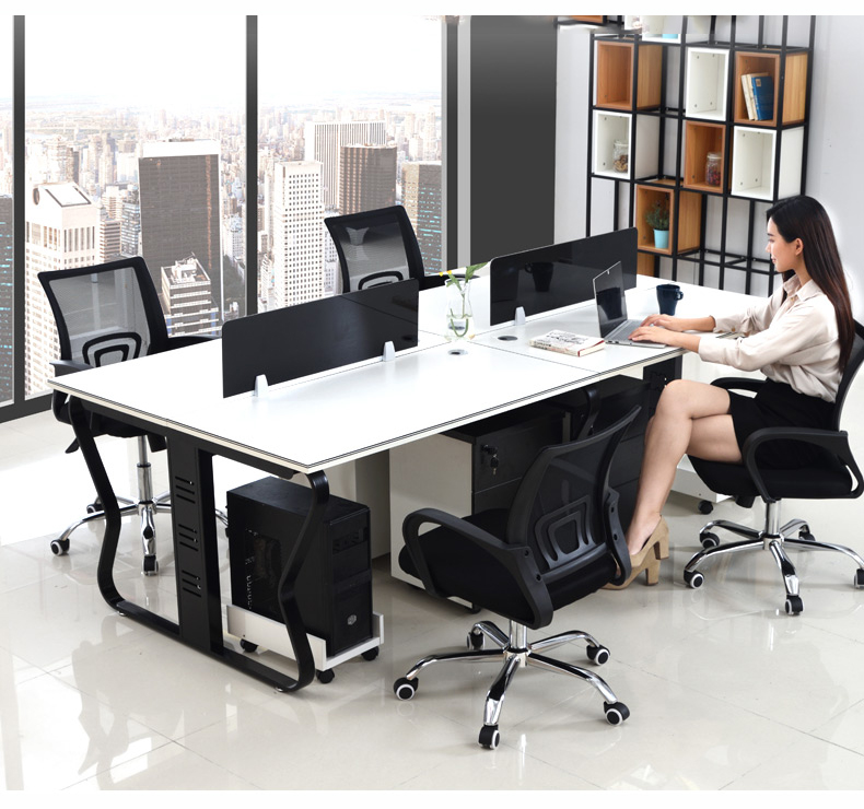 Modular office workstation,computer desk with partition ,cubicle