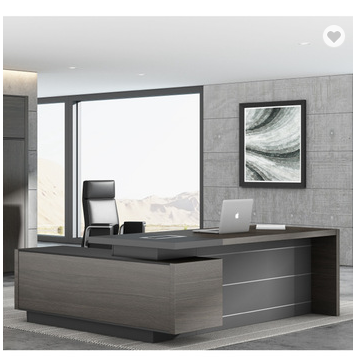 Fashional modern office desk L shape office table for boss