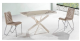 Arrival transparent plexiglass coffee table
