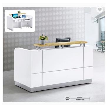 Modern salon furniture piano paint reception counter white reception desk