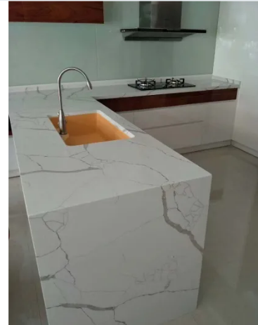 Wholesale Polished 3200*1600 20mm Calacatta/Calacutta White Quartz Stone for Kitchen Countertop