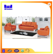 2015 latest leather office sofa design
