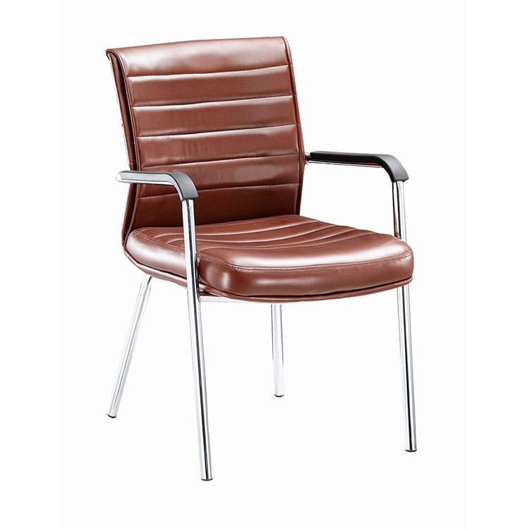 Simple innovative products computer medical brown leather office conference chair with bow foot