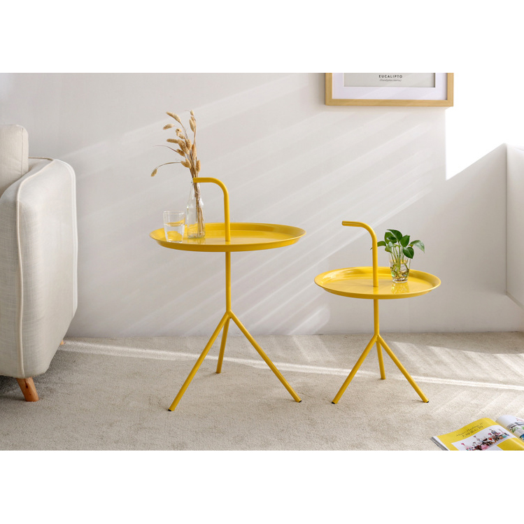 2019 Nordic style round metal coffee table living room side table