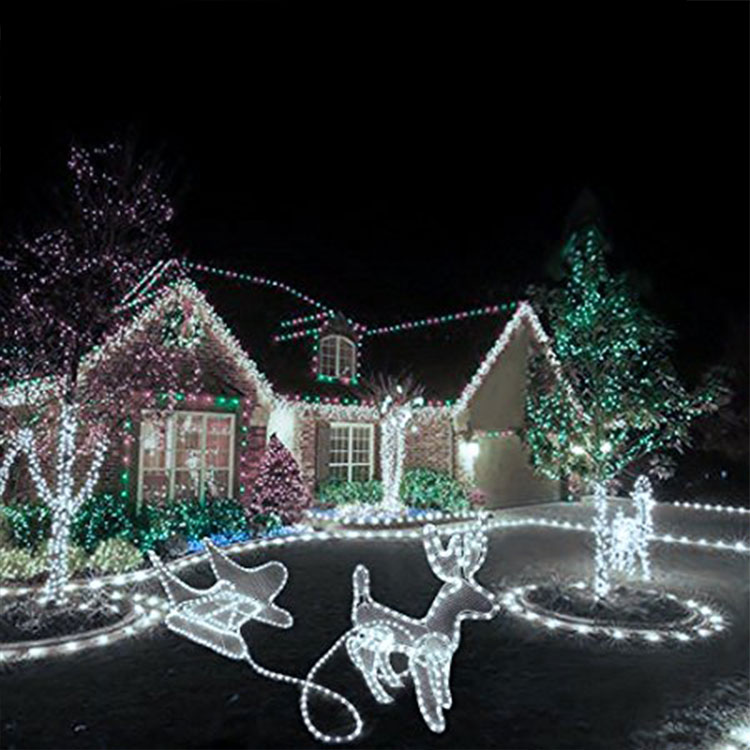 Merry Christmas Celebrations Led Rope Light For Holiday Decoration