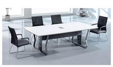 Small melamine aluminum modular meeting room table white conference table