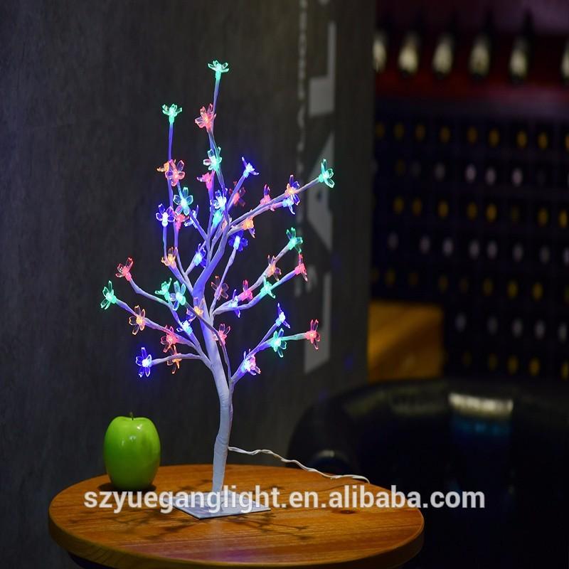 CE Christmas 45cm 1.5feet 48Led mini Table Sakura Flower Tree Light for Landscape/Indoor events decorate