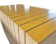 melamine aluminium profil for slot mdf panel