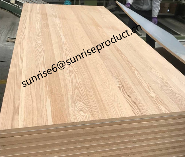 18mm/9mm/3mm natural oak/walnut/pine veneered mdf boards panels