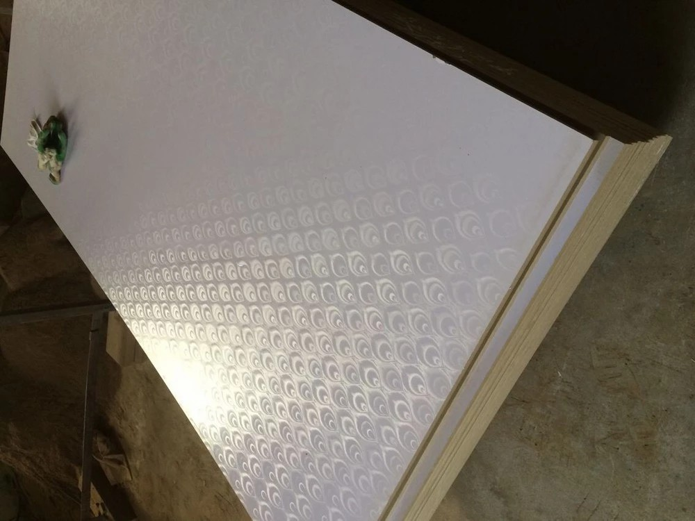 new design of melamine faced grooved MDF board with alum insert