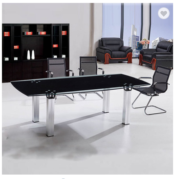2015 top quality glass meeting conference table