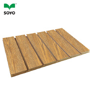 melamine Slotted MDF, Slats wall , grooved MDF for wall decoration