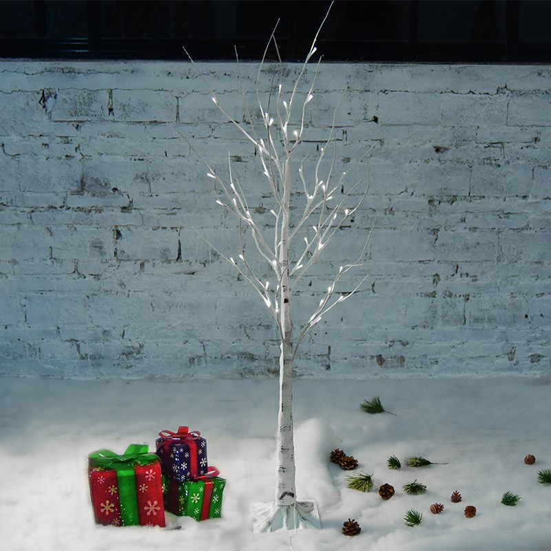 Outdoor Artificial Christmas LED 48LED 120CM Waterproof White Birch Warm White/White/RGB/Blue for Garden/indoor Decoration