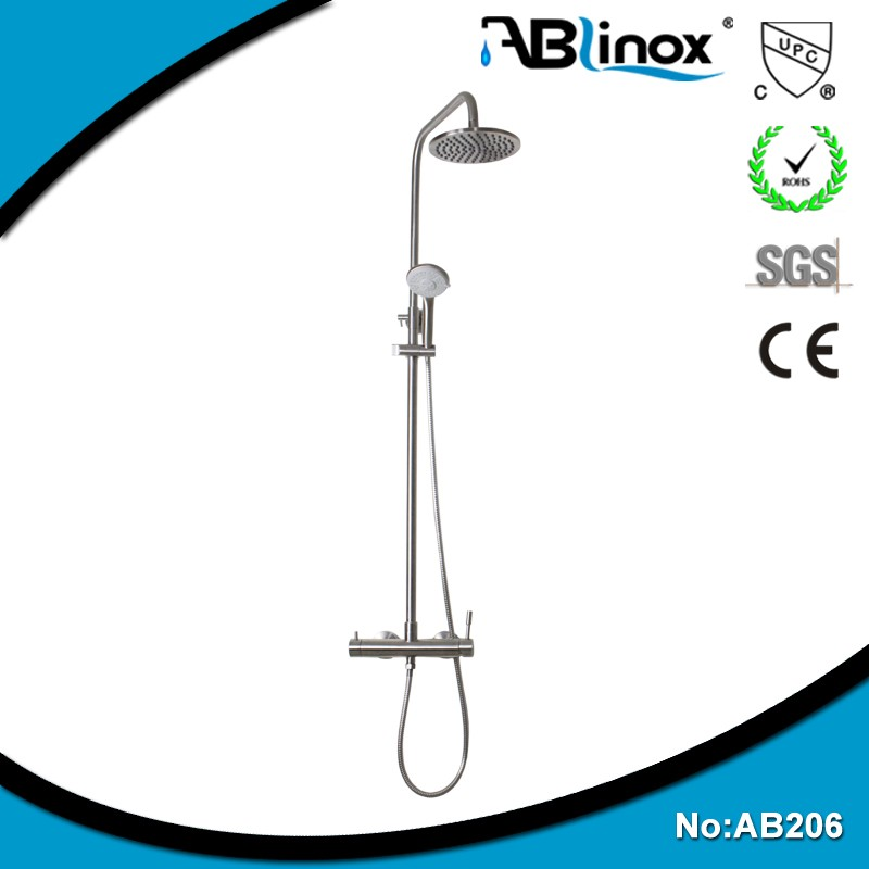 ABLinox healthy sanitaryware stainless steel rainfall shower set