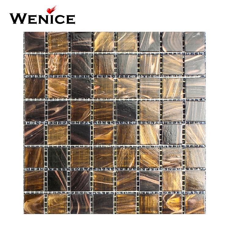 Professional supplier floor tile top grade building glass mosaic bathroom floor tile 25x25 for sa