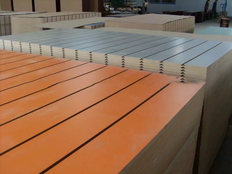 18mm high quality one side melamine slotted mdf