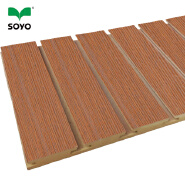 Prefabricated Wooden Grooved Acoustic Panel Timber Ceiling Panels