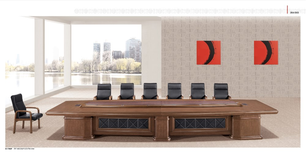 Modern classical folding conference table