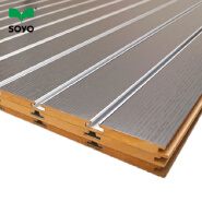 Melamine Slotted Wall mdf with Aluminum Inserts Slotboard Slatwall