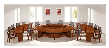 Luxury office furniture Large-scale round wood conference table