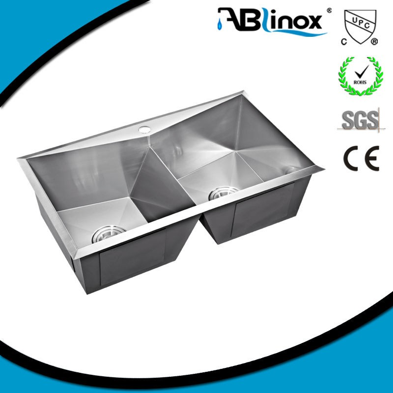 hot sale 304 stainless steel 3 bay child sink manufacturer