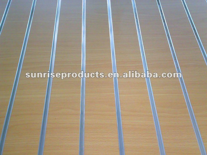 High gloss surface finish  melamine laminated slotted MDF board
