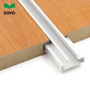 melamine MDF slatwall slot board 25mm thickness