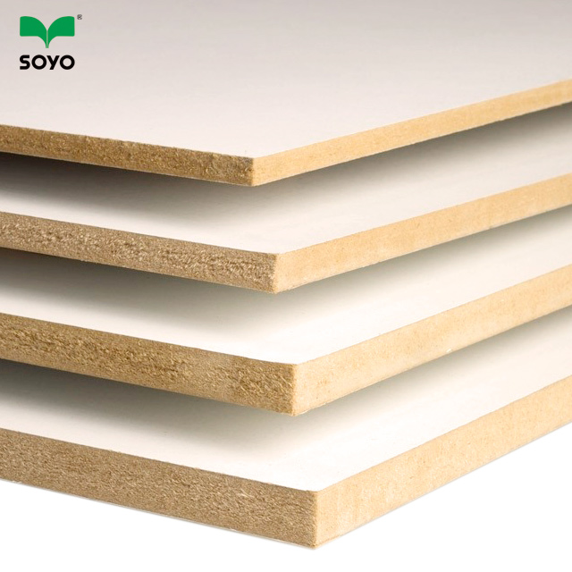 10mm white melamine faced mdf board in sale from soyo