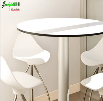 JIALIFU HPL indoor table and chairs/hpl tabletop
