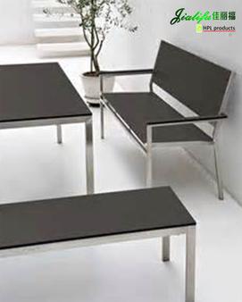 HPL panel Table & Chair,JIALIFU phemolic waterproof,dirtyproof dining table and chair