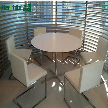 phenolic compct laminate table top/church office desk to round table