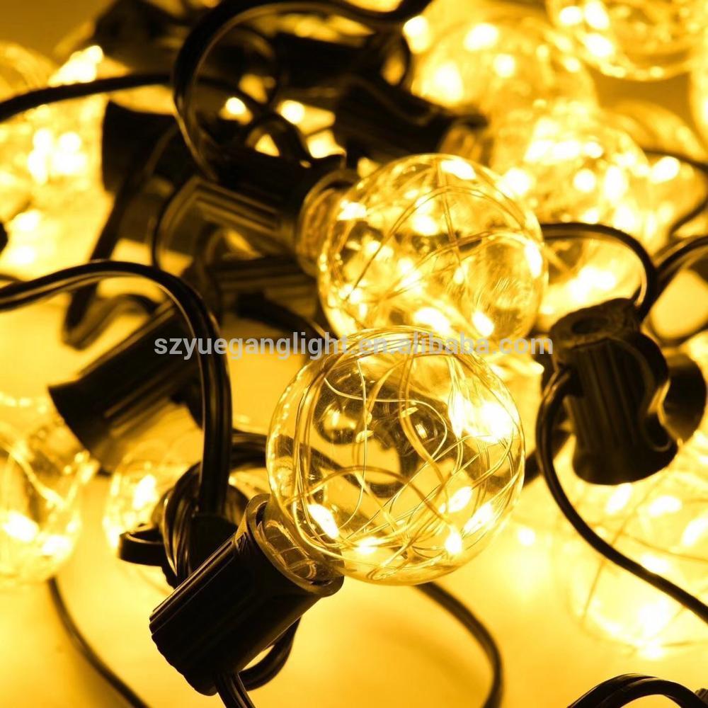 UL Listed G40 Copper Wire LedString Light Christmas Lights 33ft30led Globe Bulbs String Light for H