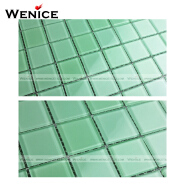 light green crystal glass swimming pool mosaic