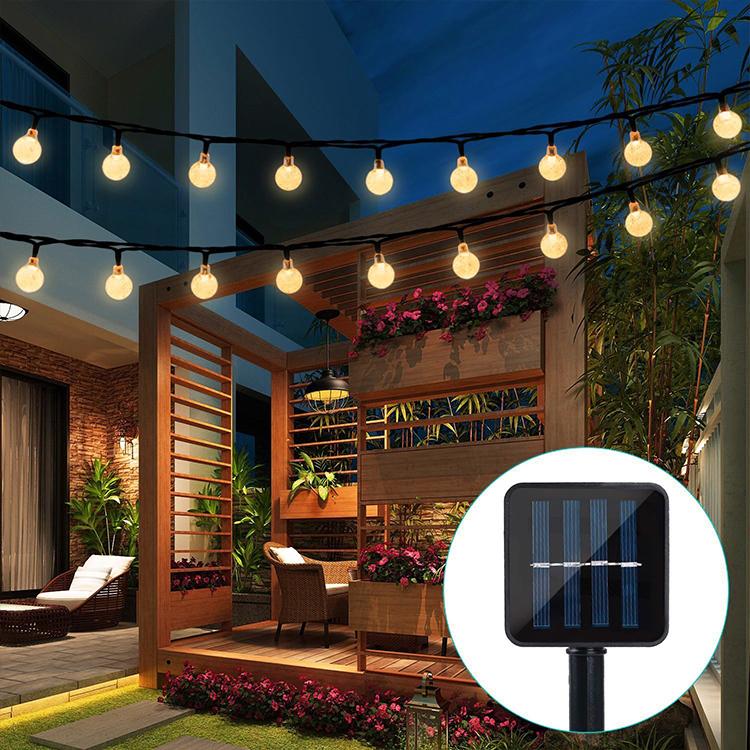 Best Seller 33ft 100 Led String Round Christmas Solar String Lights Outdoor