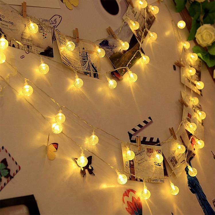 Christmas Decoration Light Outdoor Plastic Globe Ball Mini Light Bulb String Lights