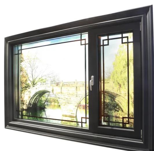 Double Glass Thermal Break Aluminium Casement Window