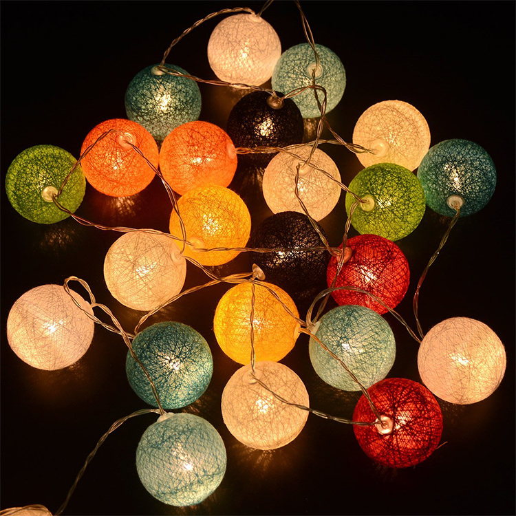 Low Price Sale Rechargeable Led Pentagram Cotton Ball String Light