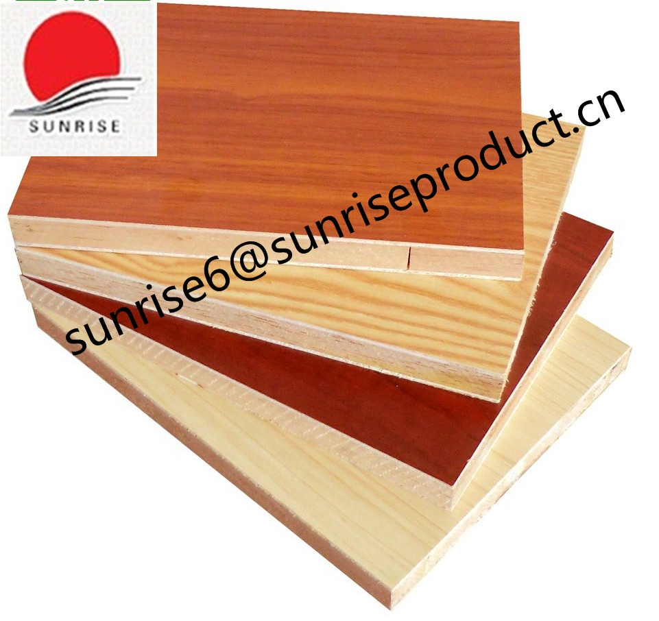 melamine block board plywood for furniture