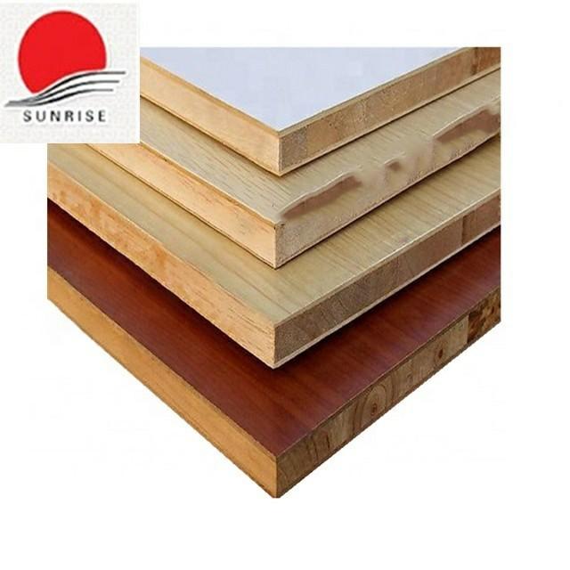 face melamine walnut block board hot press 25mm