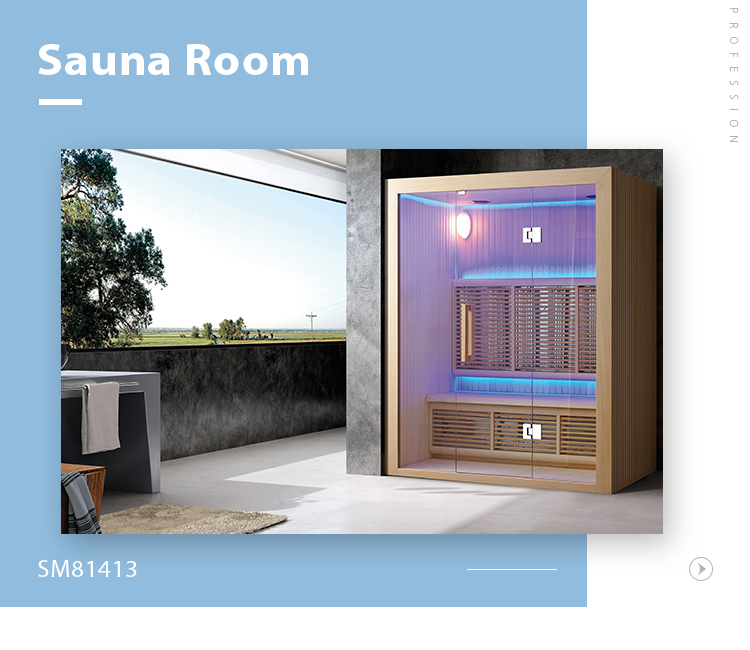 SM-81413 Simple style house hot heating pipe sauna dry steam room