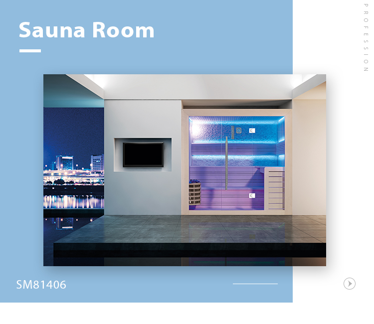 SM81406 Super luxury Indoor house traditional style dry steam sauna room