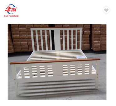 modern single/double/queen/king pine bed frame