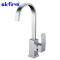 Square Single Lever Monobloc Chrome Brass Waterfall Kitchen Sink Taps Mixers