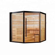 Luxury black Outline sauna bath house dry steam room