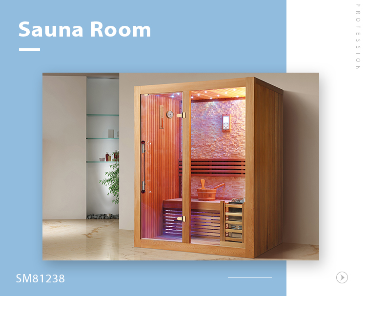SM-81238 Mini portable relax dry steam 1 person optional wood sauna room