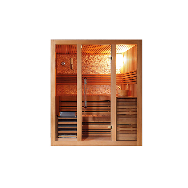 hai style portable solid wooden family stove sauna dry steam room