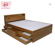 simple design wooden king size bed frame